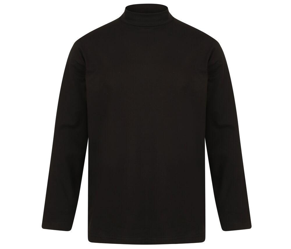 Henbury H020 - Camisa Manga Larga De Cuello Redondo