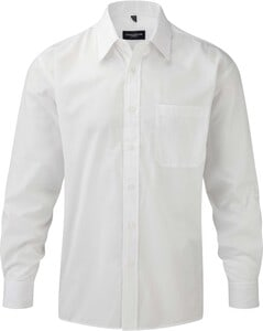 Russell Collection RU934M - Mens Long Sleeve Polycotton Easy Care Poplin Shirt