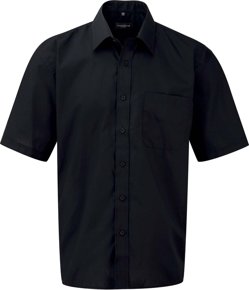 Russell Collection RU935M - Men's Short Sleeve Polycotton Easy Care Poplin Shirt