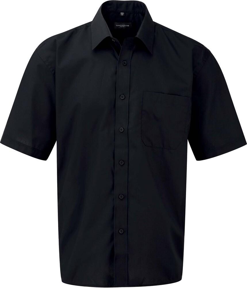 Russell Collection RU935M - Camicia uomo popeline maniche corte