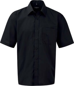 Russell Collection RU935M - Mens Short Sleeve Polycotton Easy Care Poplin Shirt