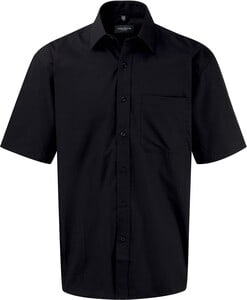 Russell Collection RU937M - Mens Short Sleeve Pure Cotton Easy Care Poplin Shirt