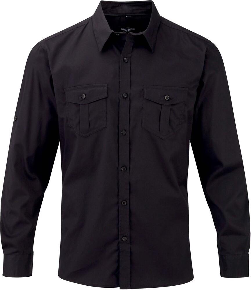 Russell Collection RU918M - Men`s Roll Sleeve Shirt LS