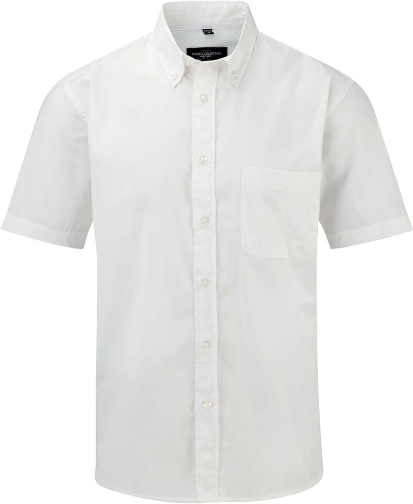 Russell Collection RU917M - Men's Short Sleeve Classic Twill Shirt