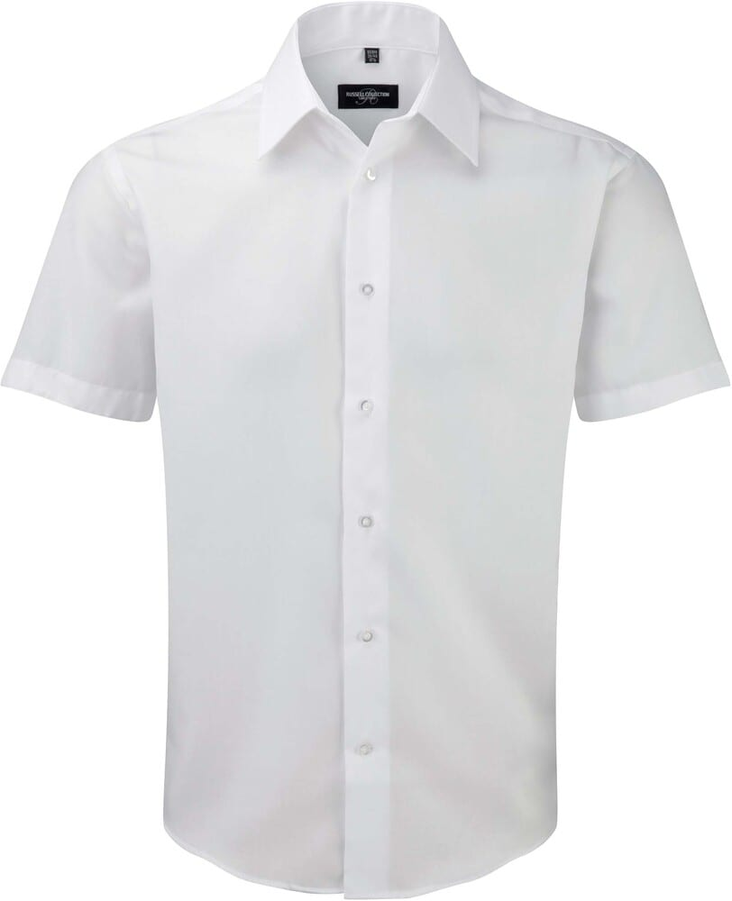 Russell Collection RU959M - Men's Short Sleeve Tailored Ultimate Non Iron Shirt