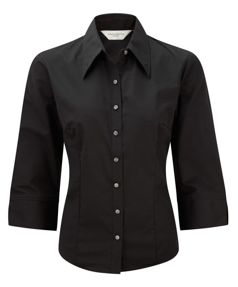 Russell Collection RU954F - Camicia donna Tencel® attillata maniche 3/4