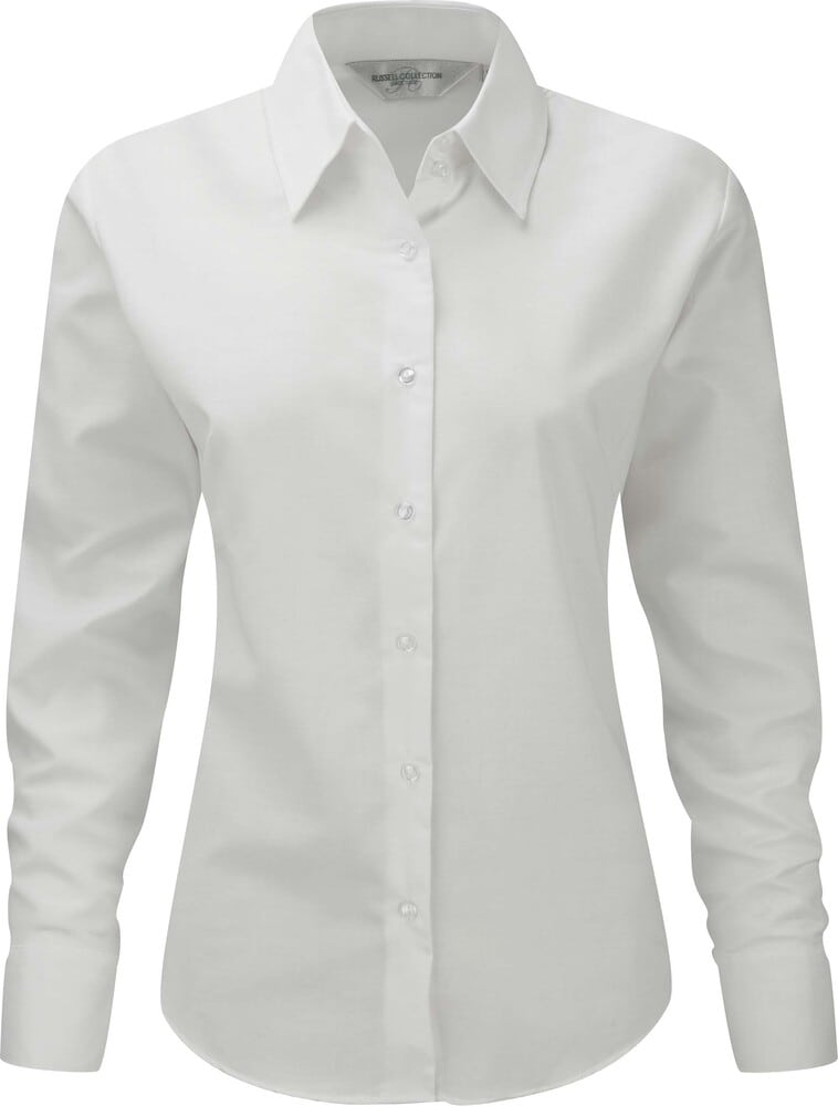 Russell Collection RU932F - Camisa Oxford En Manga Larga Y De Fácil Cuidado