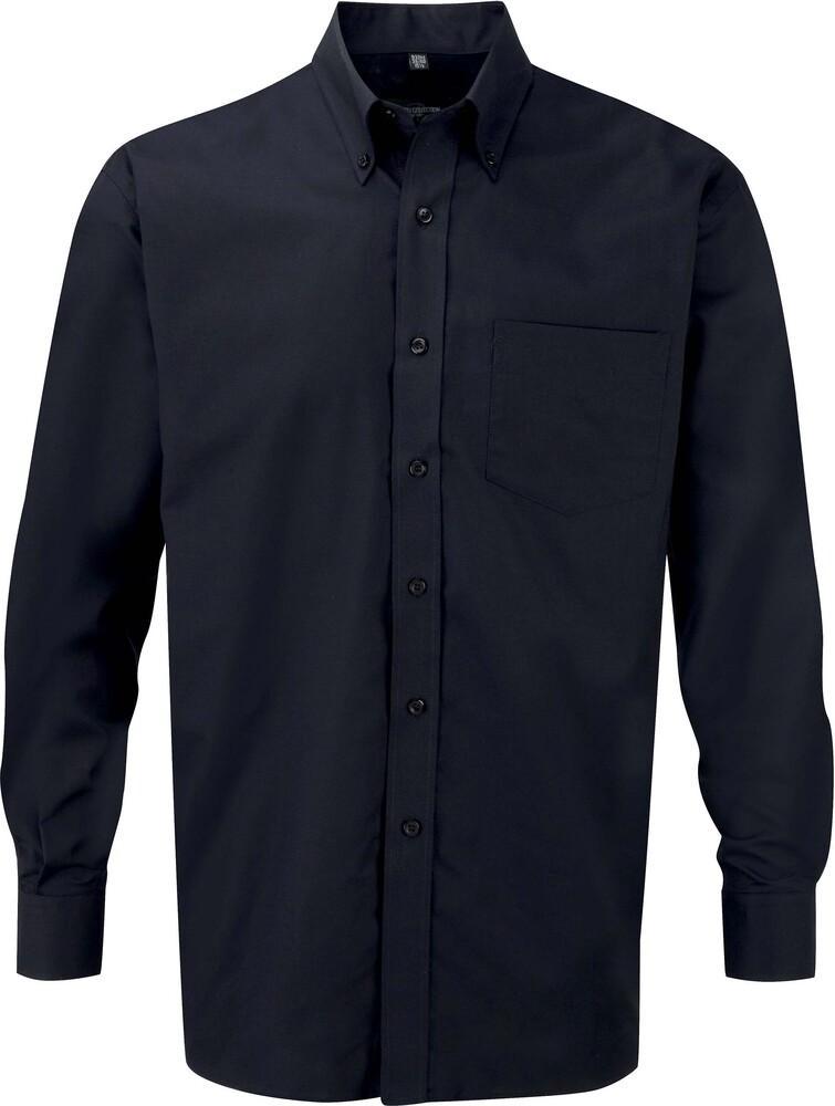 Russell Collection RU932M - Camisa Oxford En Manga Larga Y De Fácil Cuidado