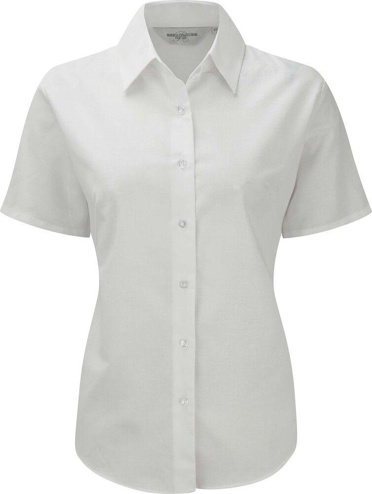 Russell Collection RU933F - Camicia donna Oxford maniche corte