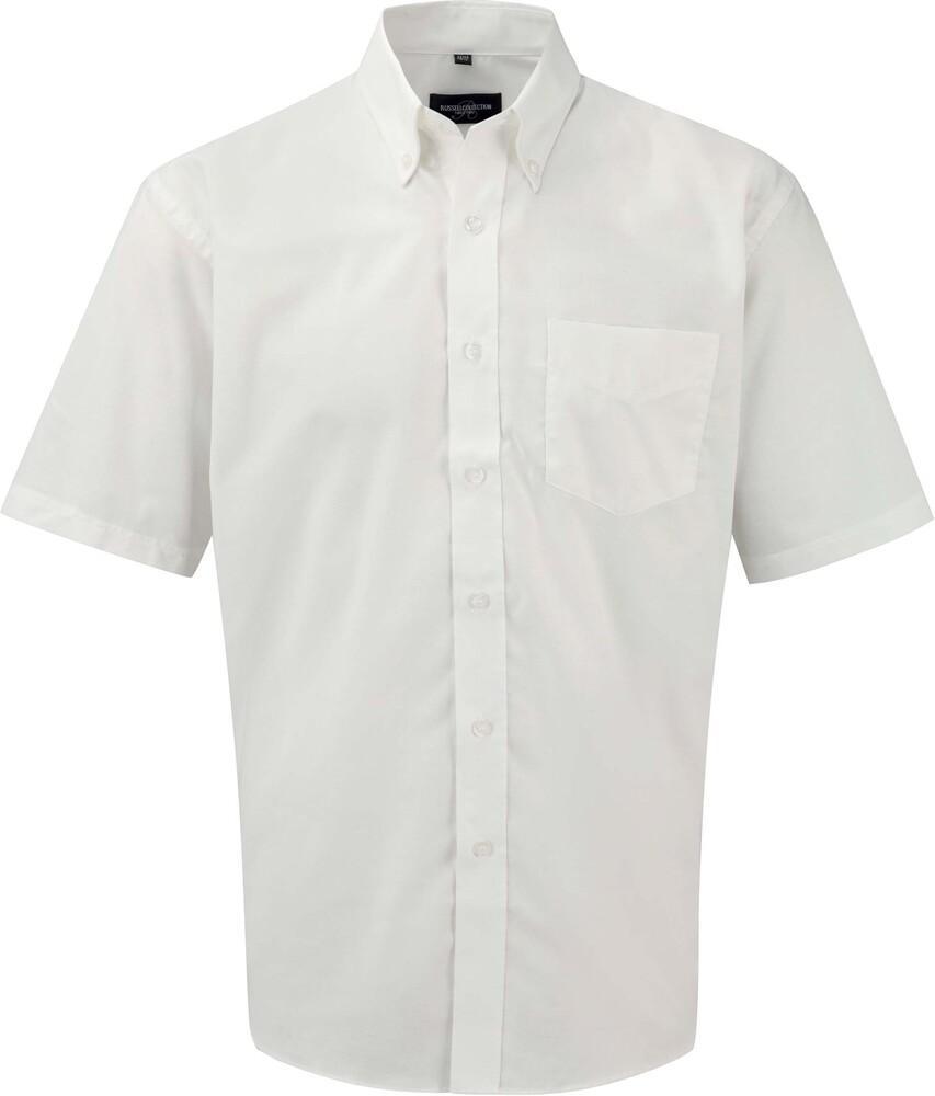 Russell Collection RU933M - Camisa Oxford En Manga Corta Y De FÁcil Cuidado