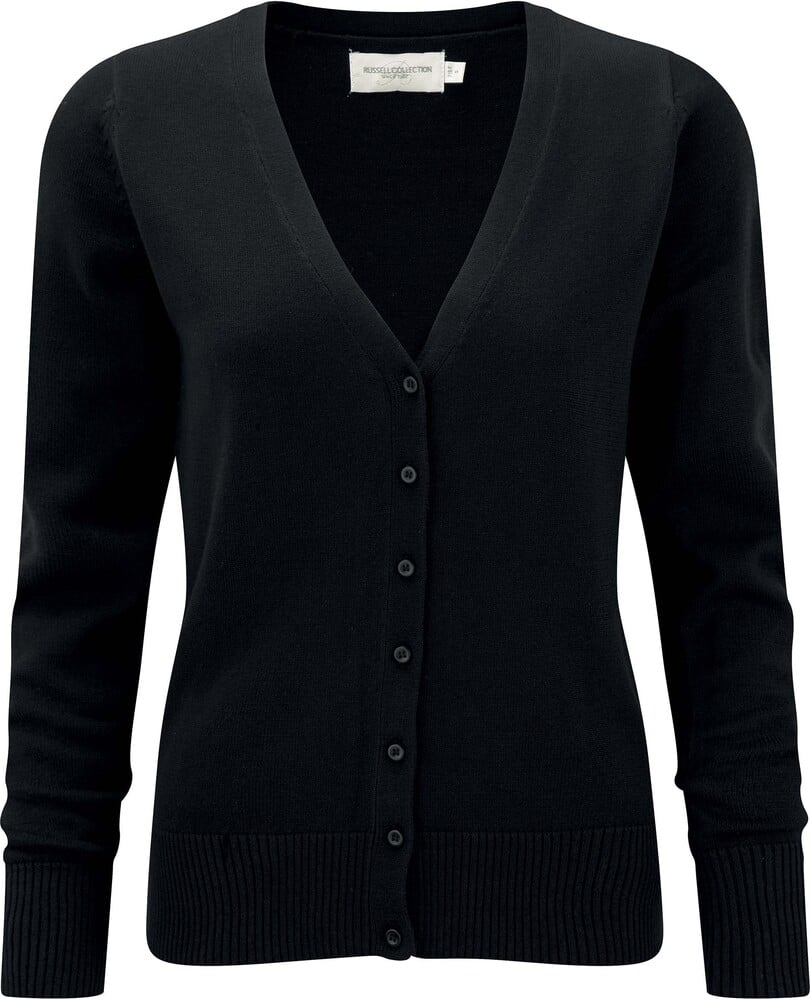 Russell Collection RU715F - Ladies' V-Neck Knitted Cardigan