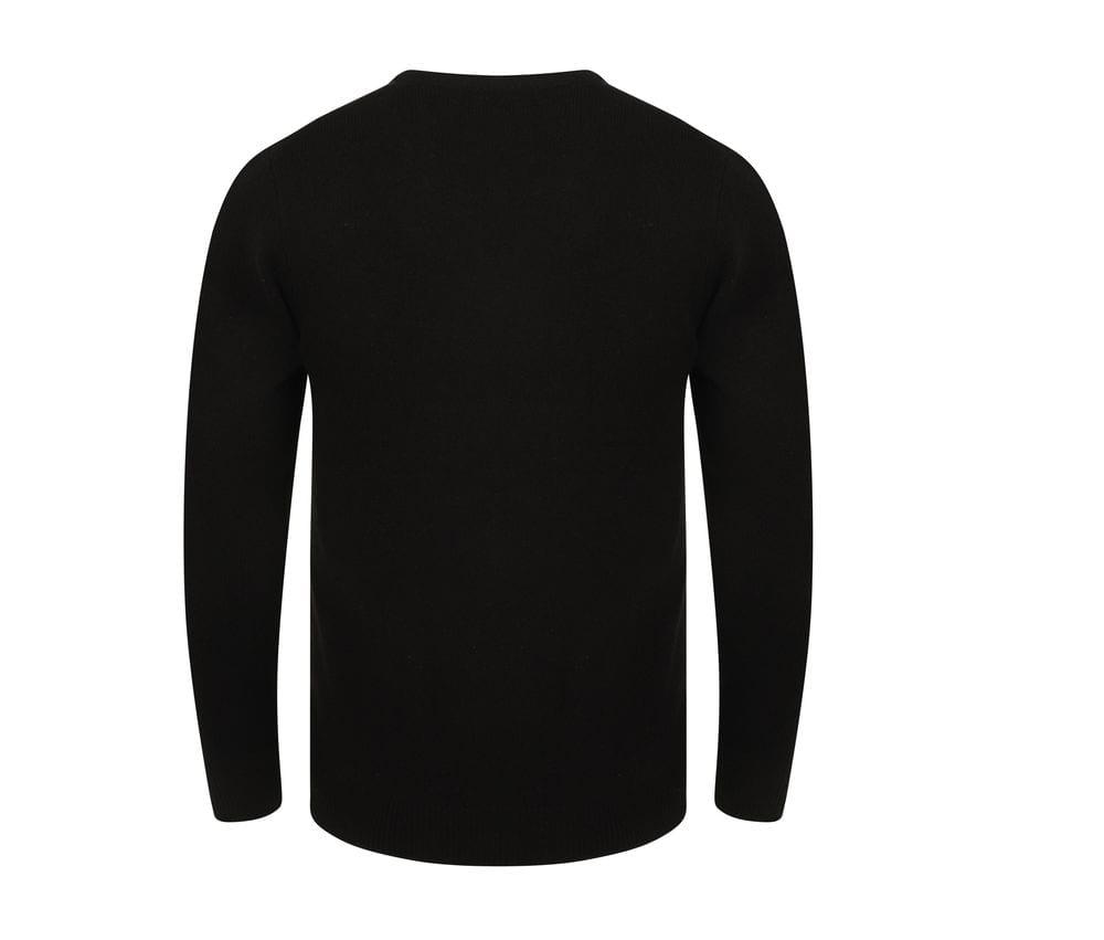 Henbury H730 - Lamswollen Sweater met V-Hals