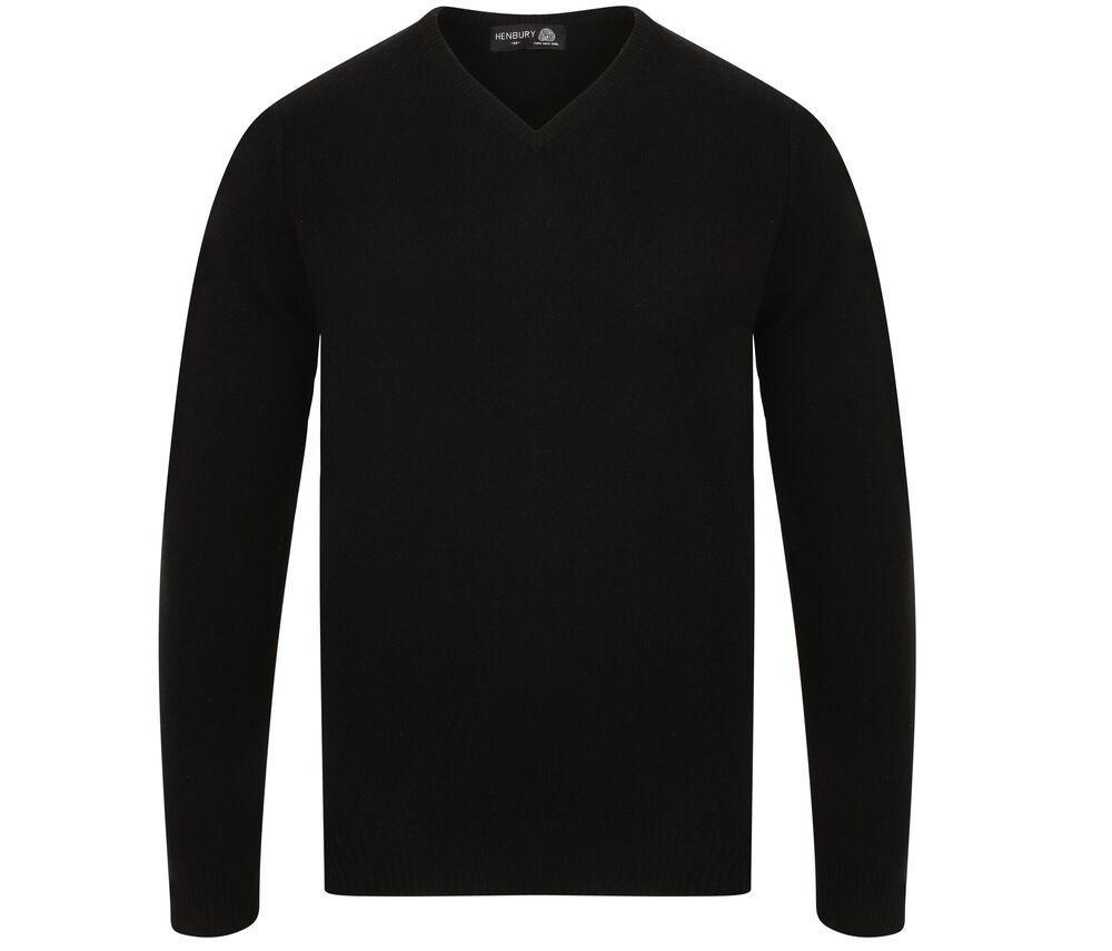 Henbury H730 - Lambswool V Neck Sweater