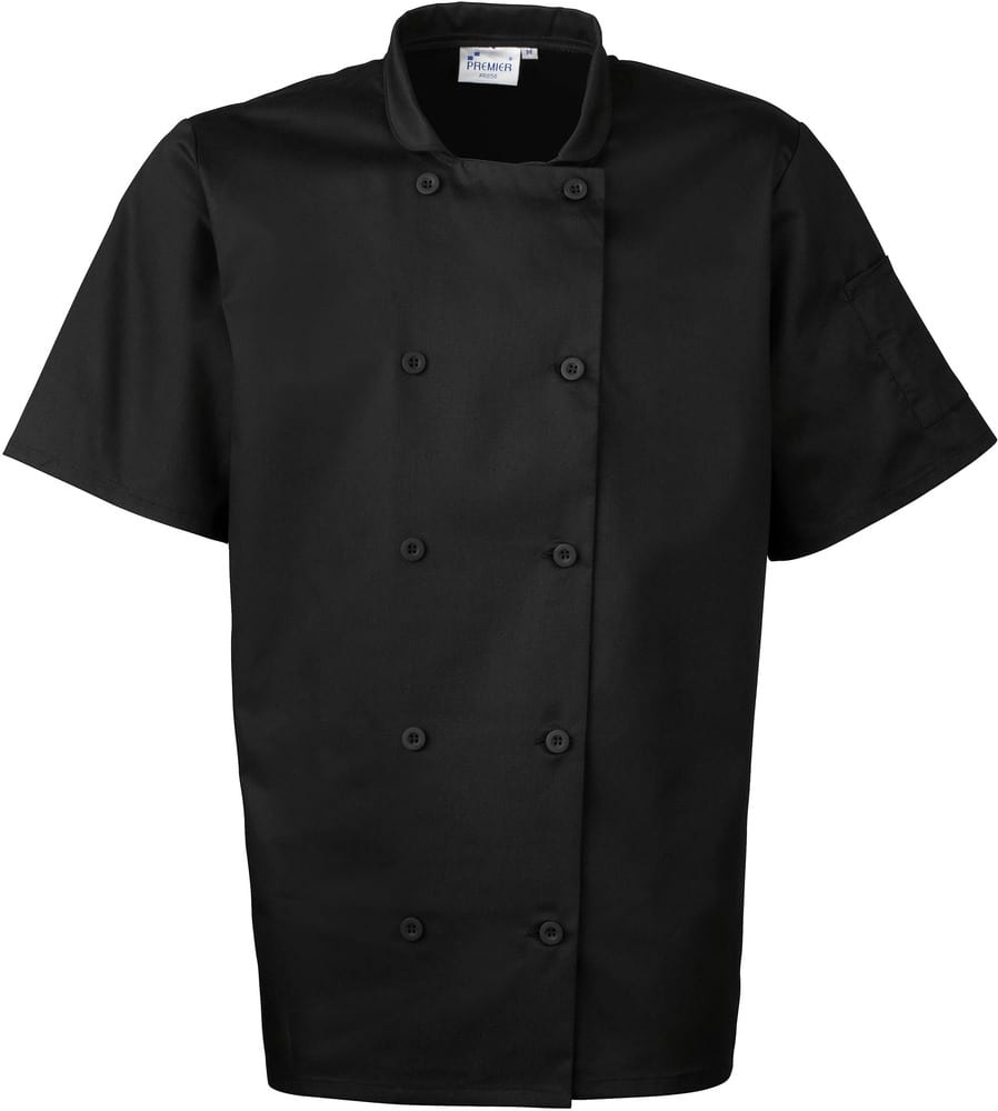 Premier PR656 - Short Sleeve Chef's Jacket