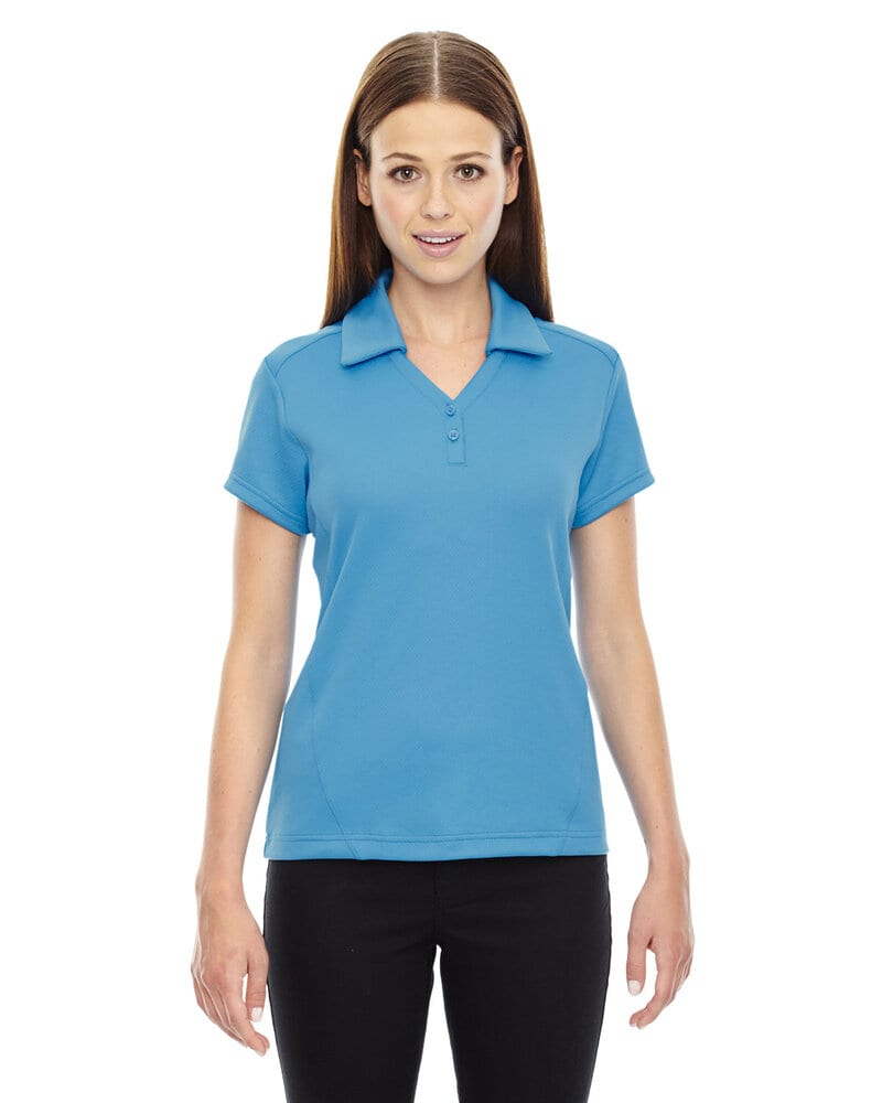 Ash City North End 78803 - Exhilarate Ladies' Coffee Charcoal Performance Polos With Pocket