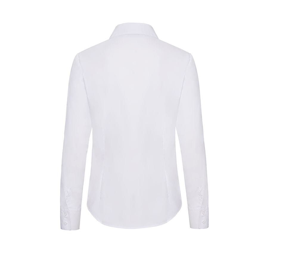 Fruit of the Loom SS012 - Lady-fit poplin long sleeve shirt