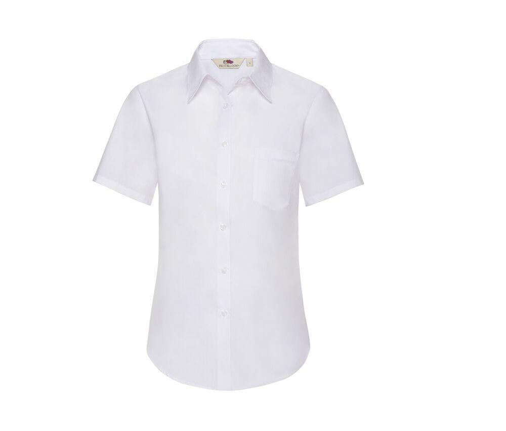 Fruit of the Loom SS014 - Camisa de popelina para mujer de manga corta