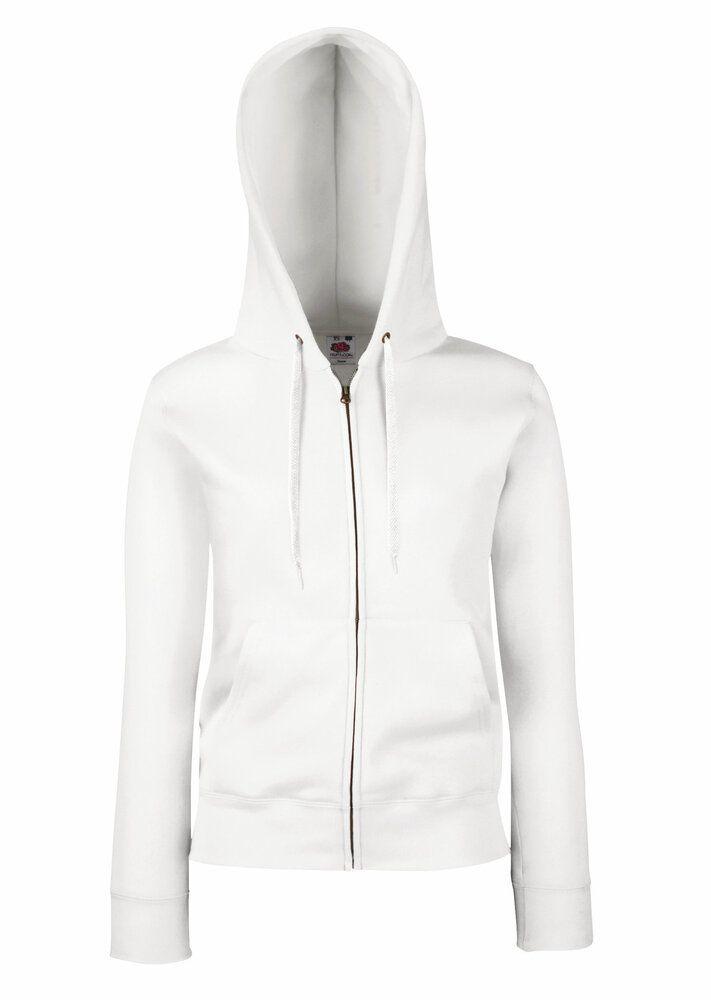 Fruit of the Loom SS312 - Premium 70/30 lady-fit hooded sweatshirt jacket