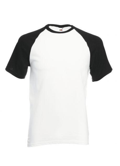 Fruit of the Loom SS026 - Baseball t-shirt met korte mouw