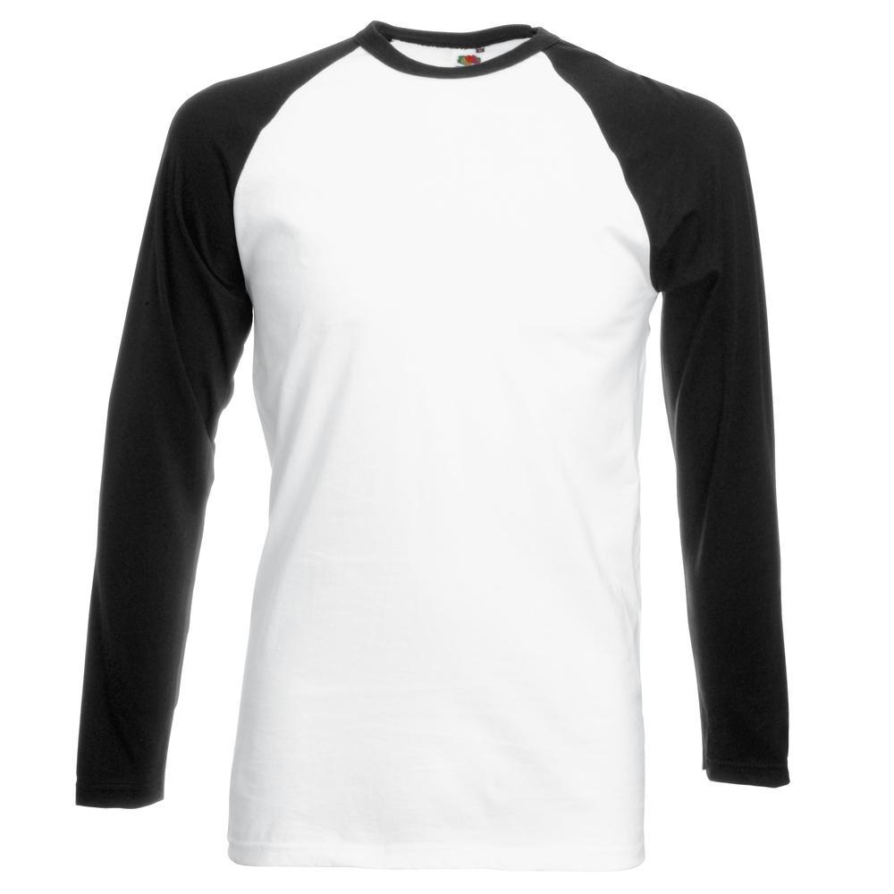 Fruit of the Loom SS028 - Lange Hülse Baseball-T-Shirt