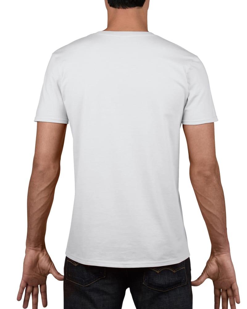 camiseta hombre cuello v gildan