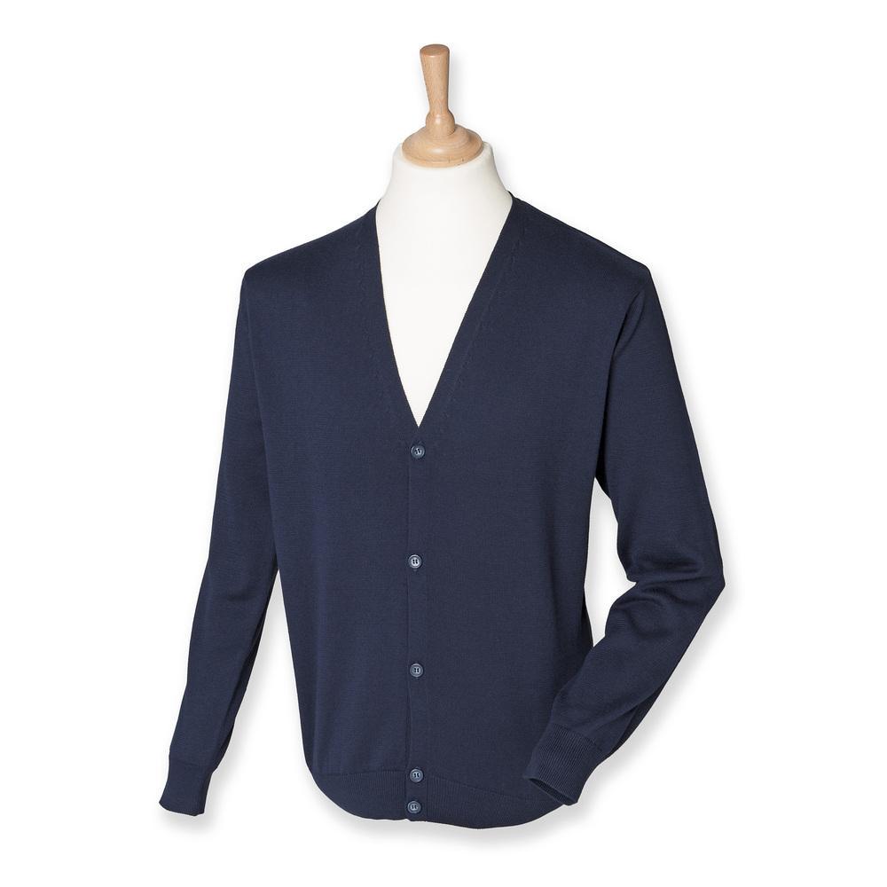 Henbury HB722 - V-button cardigan