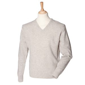 Henbury HB730 - Lambswool v-neck jumper