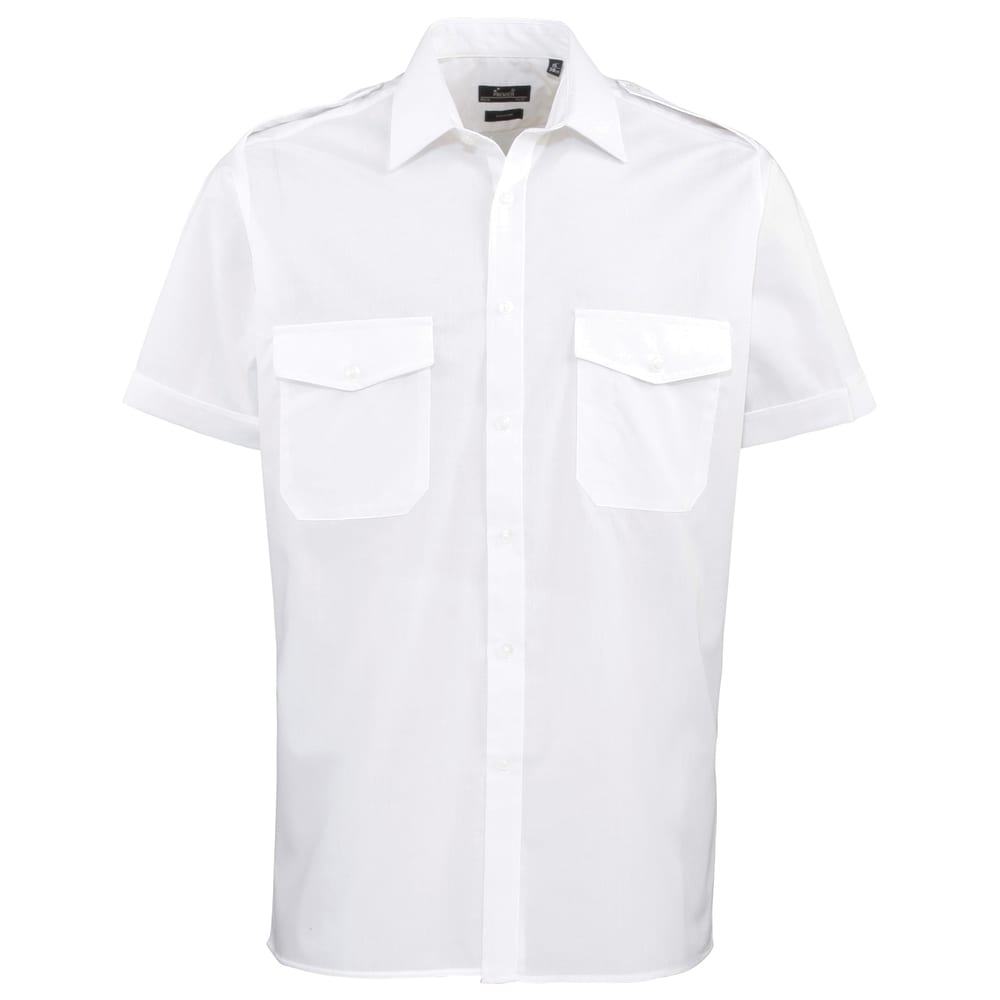 Premier PR212 - Pilotenoverhemd met korte mouwen