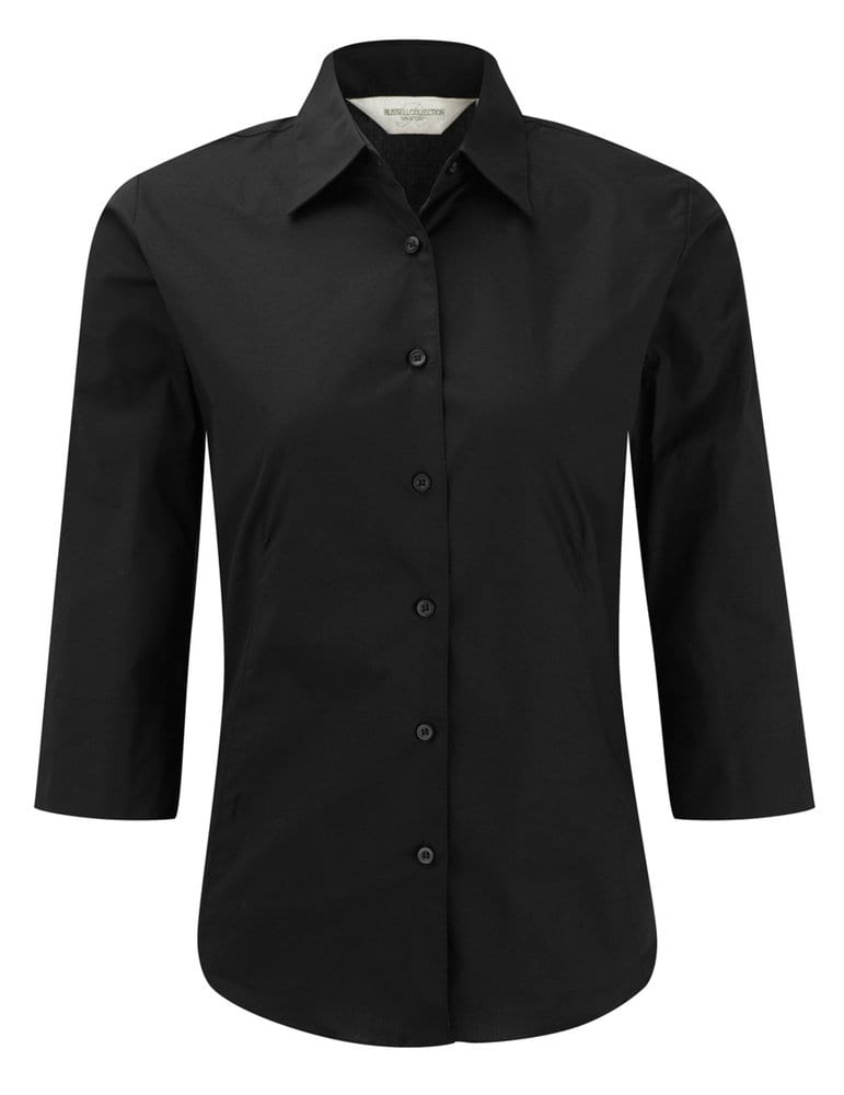 Russell Collection J946F - Women's ¾ sleeve easycare fitted shirt