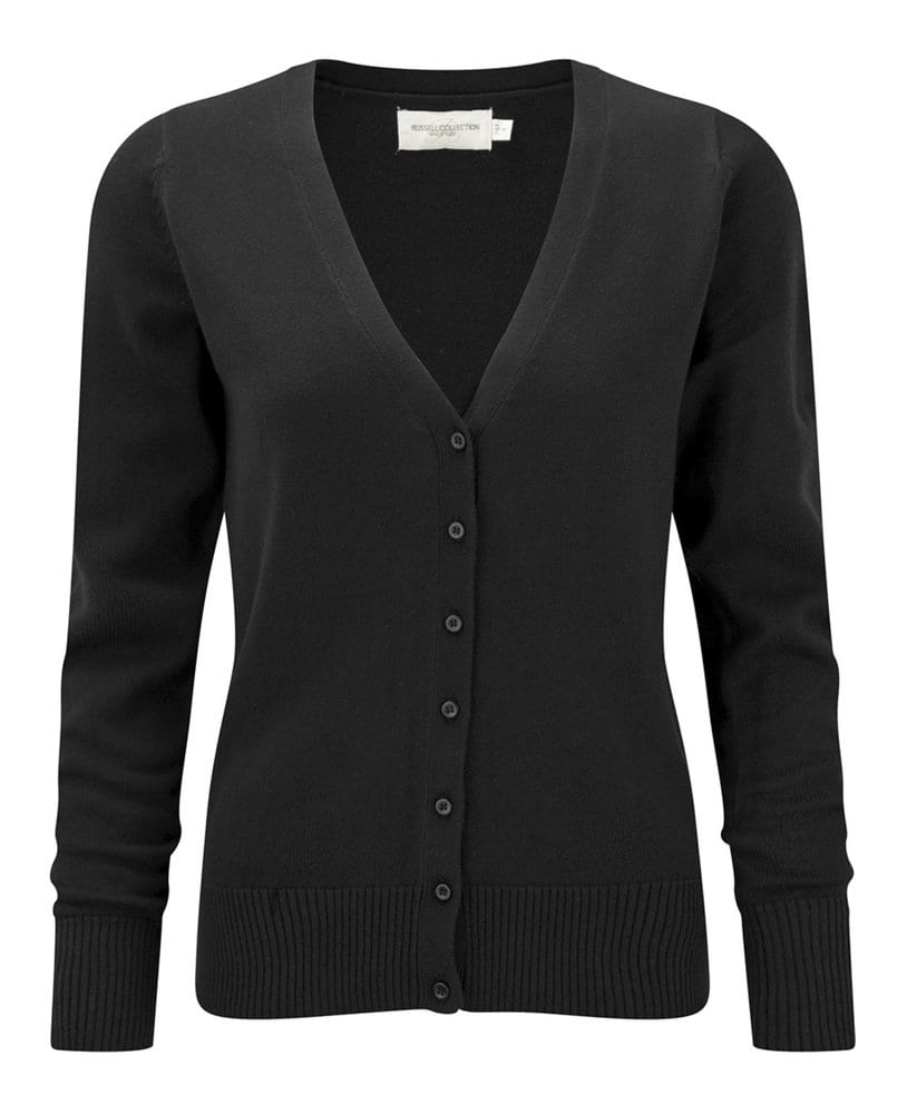 Russell Collection J715F - Women's v-neck knitted cardigan