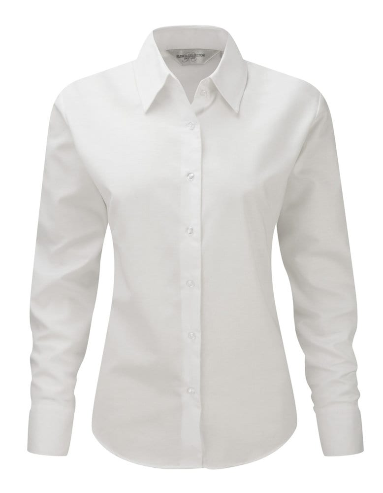Russell Collection J932F - Women's long sleeve easycare Oxford shirt