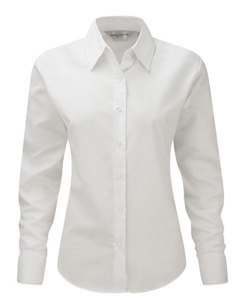 Russell J932F - Lange Ärmel Pflegeleichtes Oxford-Hemd