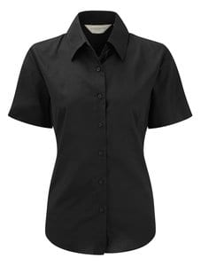Russell Collection J933F - Womens short sleeve Oxford shirt