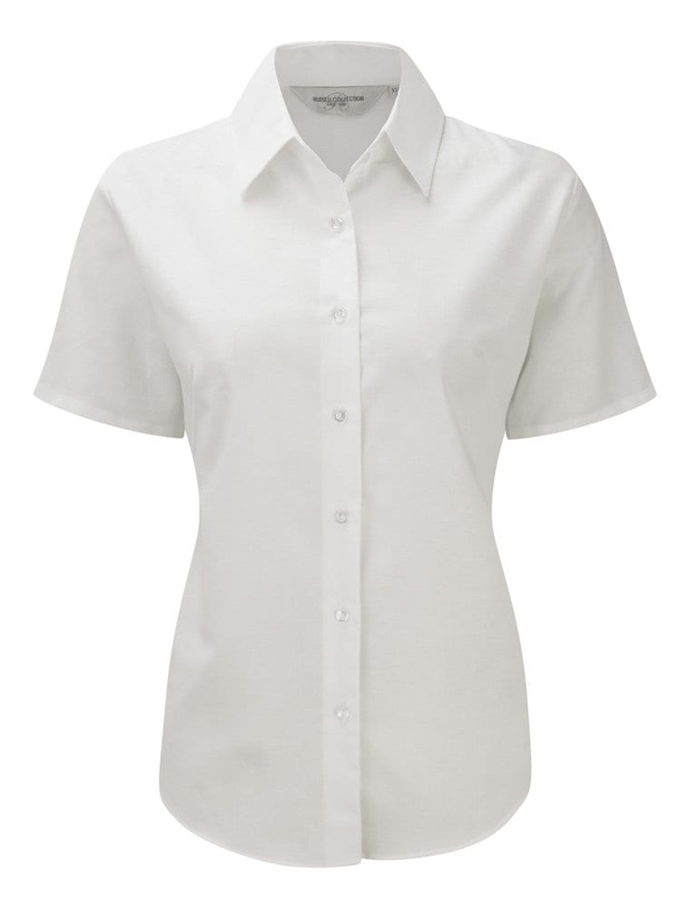 Russell Collection J933F - Women's short sleeve Oxford shirt