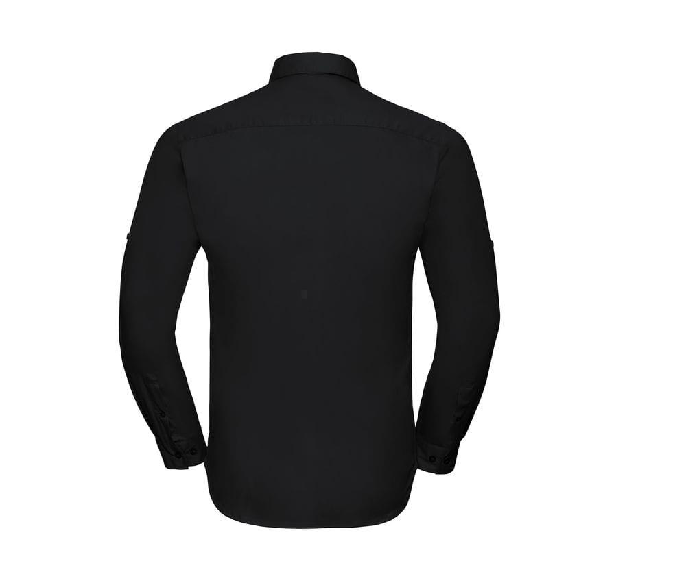 Russell J918M - Męska koszula z podwiniętym rękawkiem 3/4