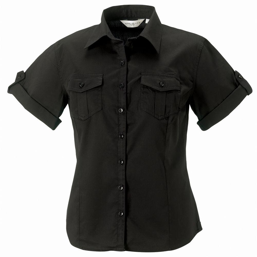 Russell J919F - Camisa con manga corta que se puede arremangar