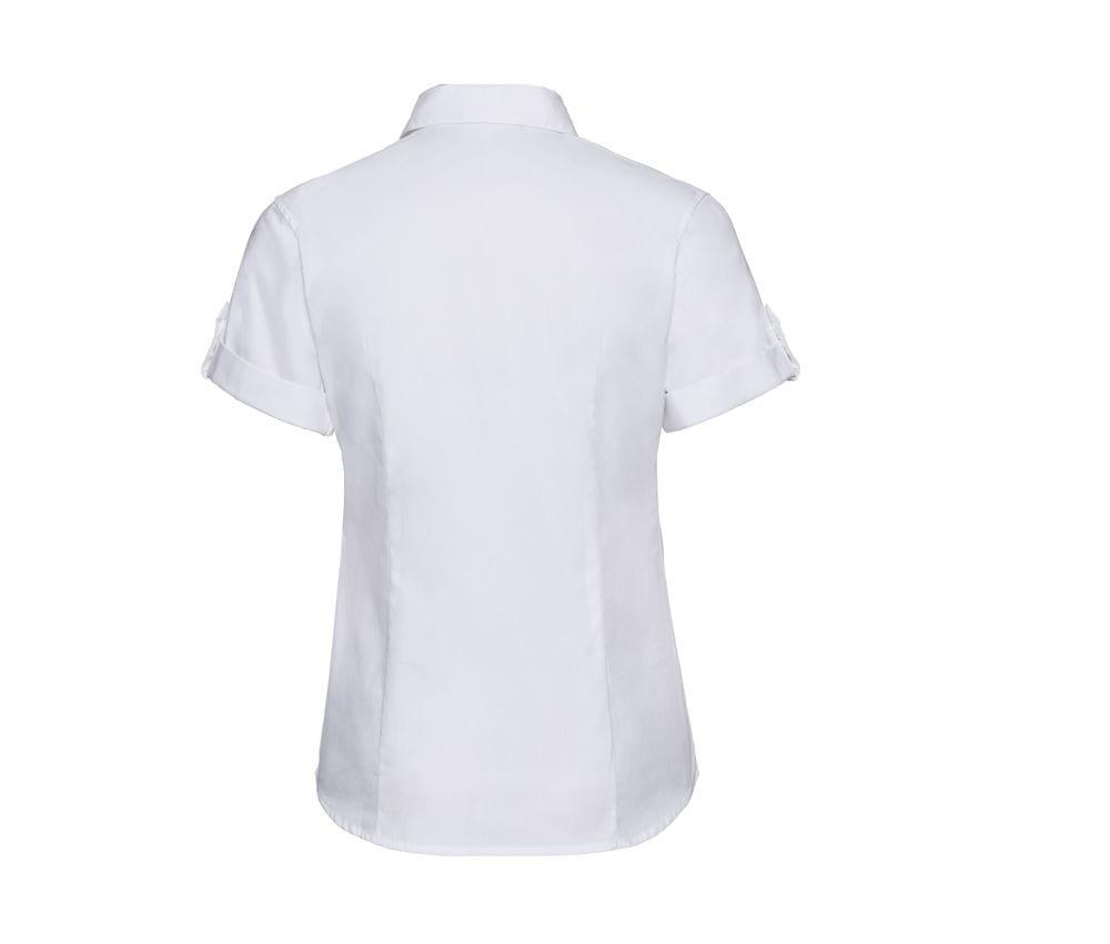 Russell Collection J919F - Women's roll-sleeve short sleeve shirt