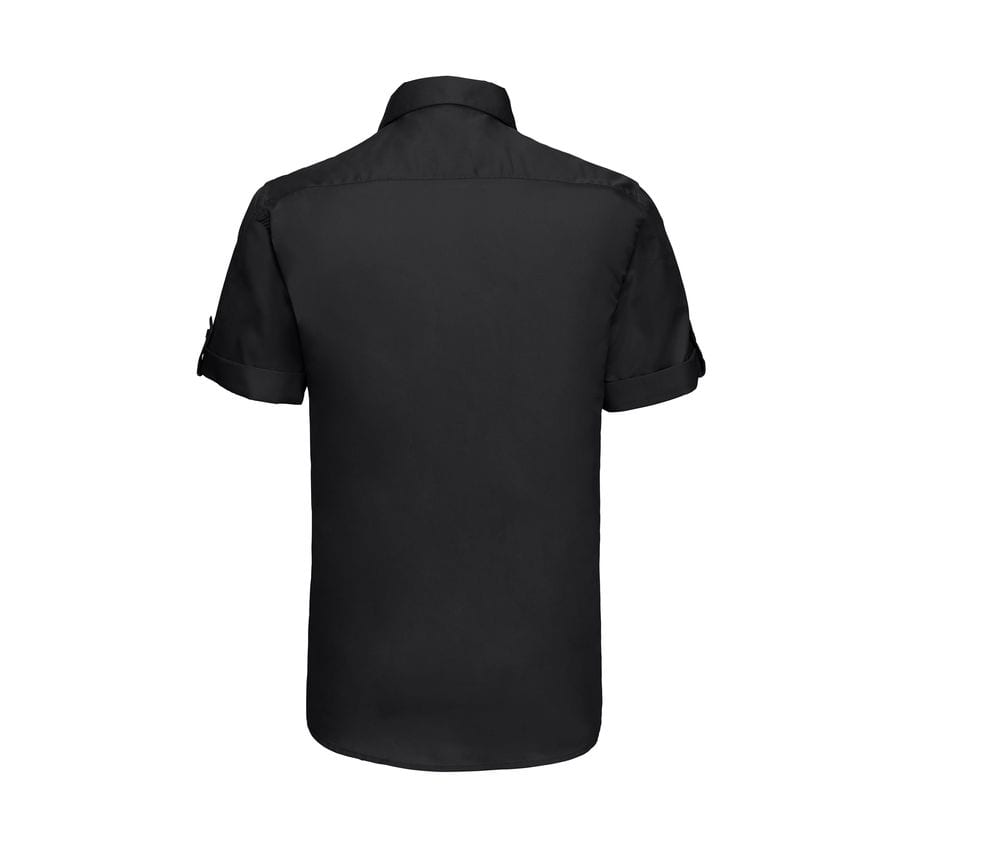 Russell J919M - Camisa con manga corta que se puede arremangar