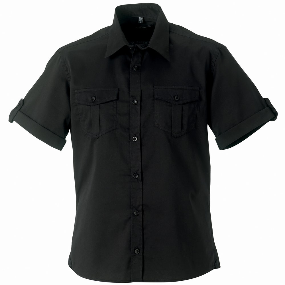 Russell Collection J919M - Roll-sleeve shirt short sleeve