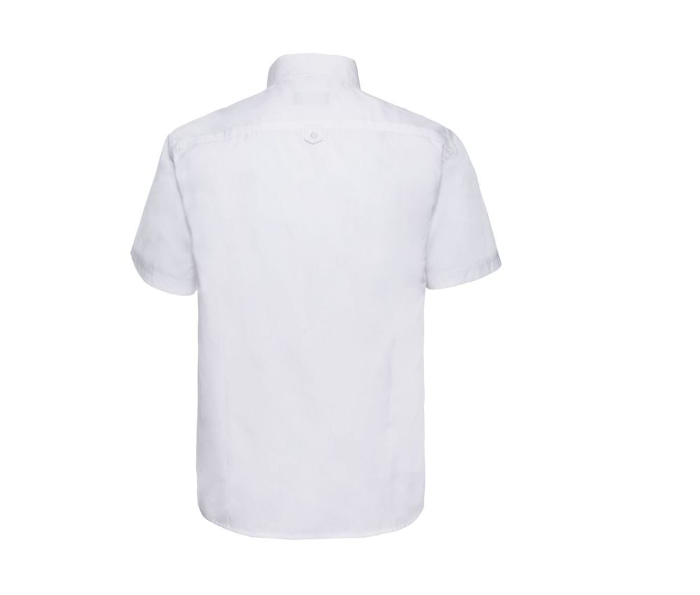 Russell J917M - Camisa clásica de sarga de manga corta