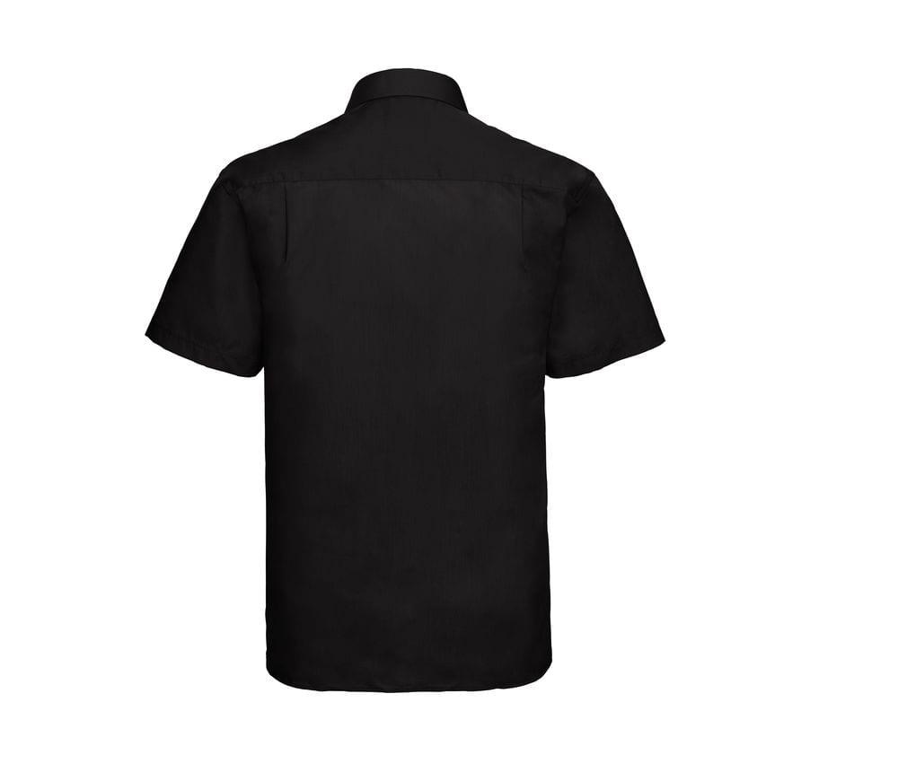 Russell Collection J935M - Camicia manica corta in popeline - easycare