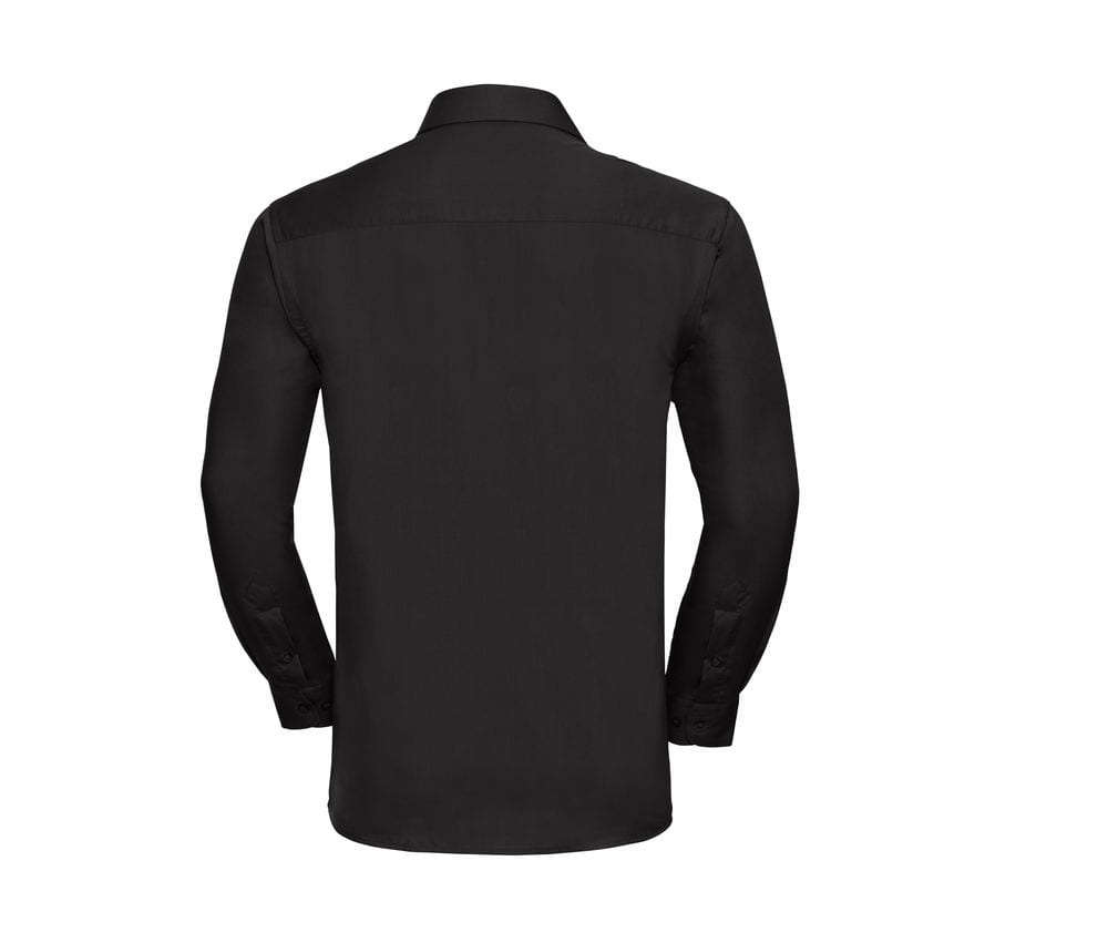 Russell Collection J936M - Camicia maniche lunghe in puro cotone poplin - easycare