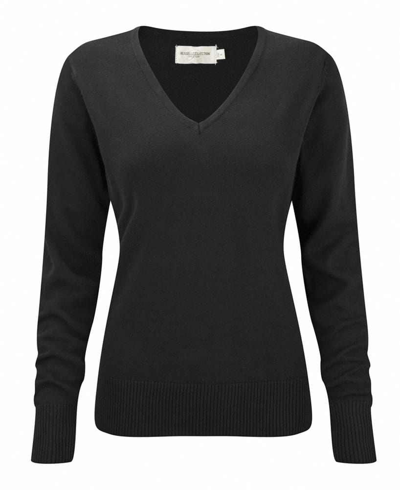Russell Collection J710F - Women's v-neck knitted sweater