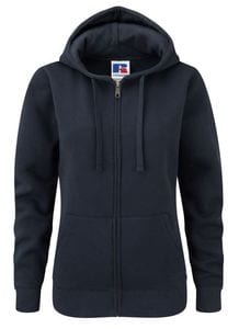 Russell J266F - Womens authentic zipped hooded sweatshirt