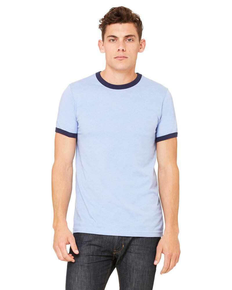 Bella+Canvas 3055C - Men's Jersey Short-Sleeve Ringer T-Shirt