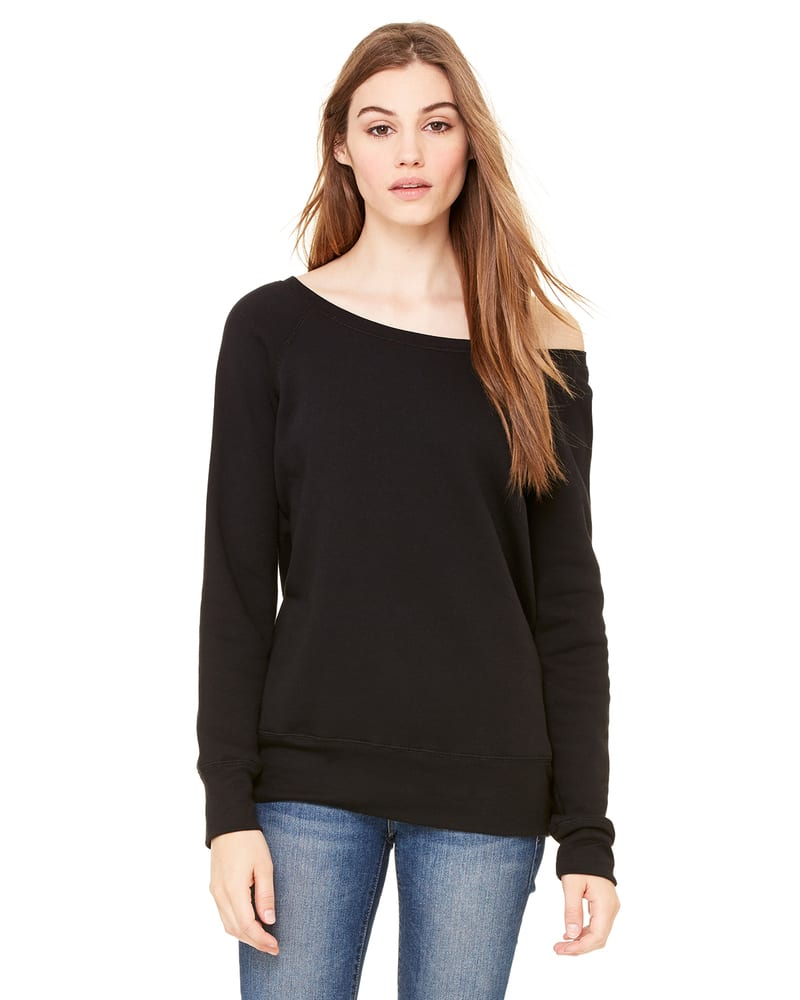 Bella+Canvas 7501 - Ladies Sponge Fleece Wide Neck Sweatshirt