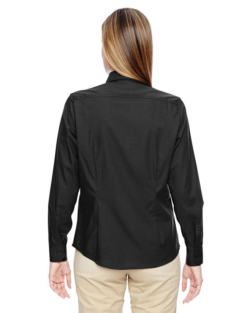 Ash City North End 77043 - Paramount Chemises Sans Repassage En Twill Mélange De Coton Ratière À Carreaux