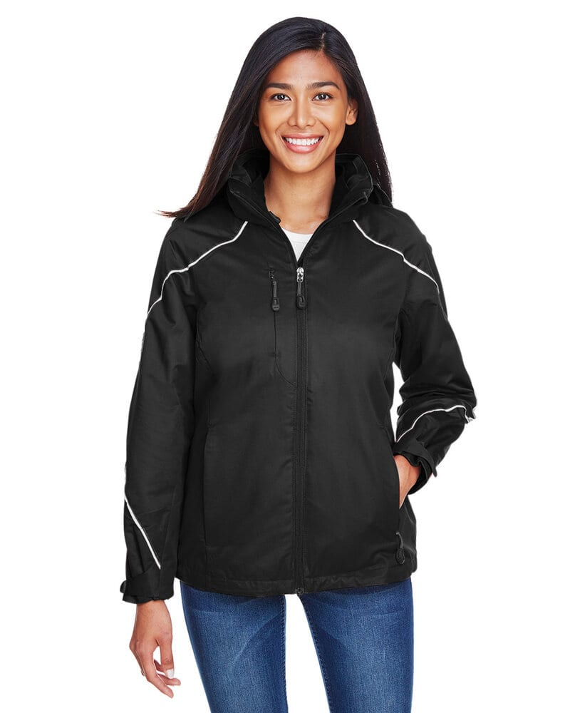 Ash City North End 78196 - ANGLE LADIES' 3-in-1 JACKET WITH BONDED FLEECE LINER