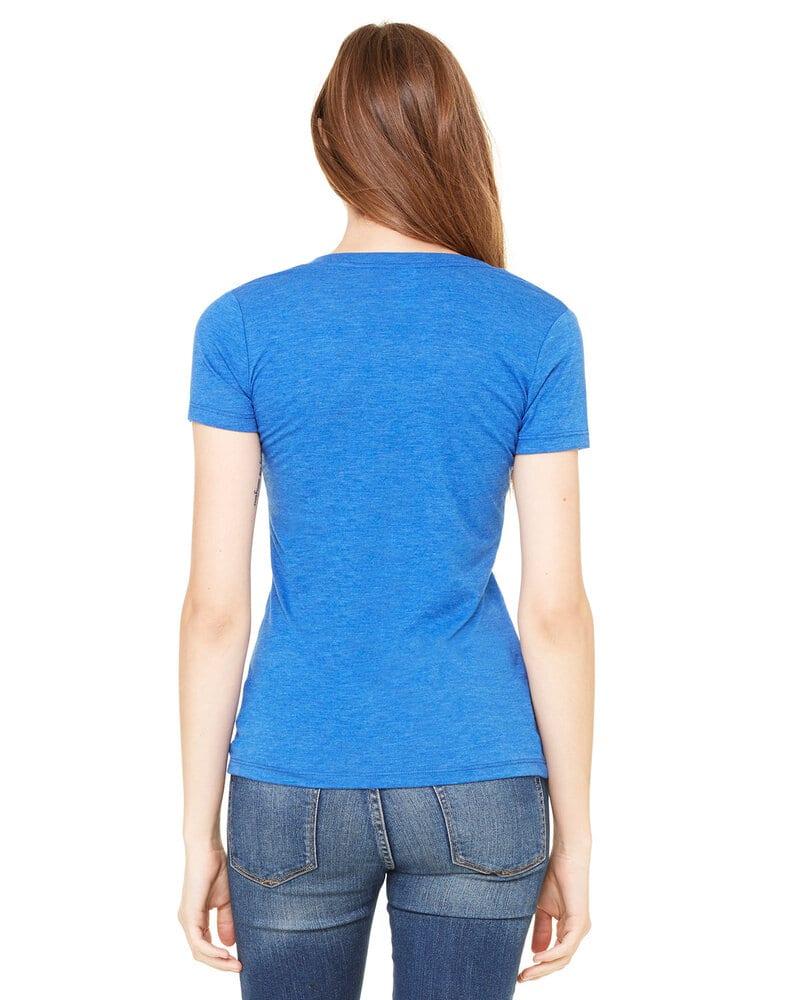 Bella+Canvas 8435 - Ladies Triblend Short-Sleeve Deep V-Neck T-Shirt