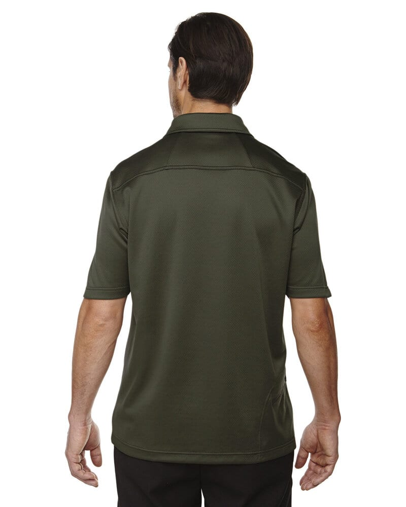 Ash City North End 88803 - Exhilarate Men's Coffee Charcoal Performance Polos With Pocket
